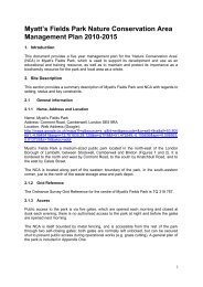 Myatt's Fields Park Nature Conservation Area Management Plan ...