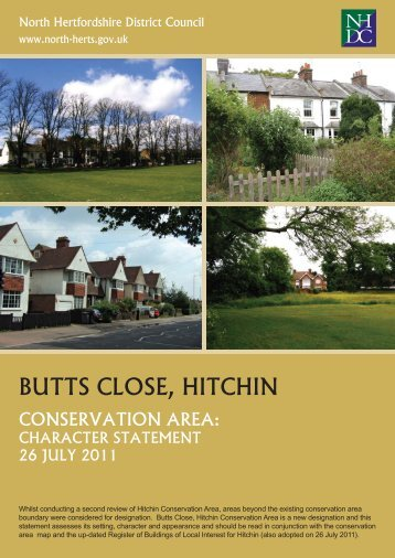BUTTS CLOSE, HITCHIN - North Hertfordshire District Council