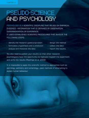 pseudo-science and psychology