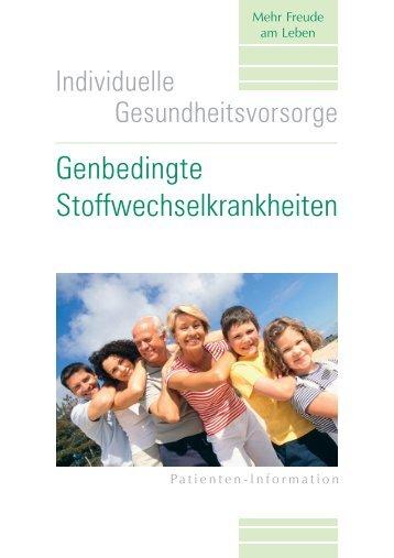 Genbedingte Stoffwechselkrankheiten - Dr. Staber &Kollegen ...