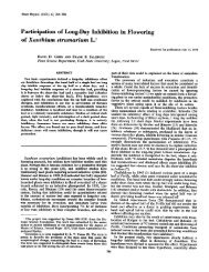 Participation of Long-Day Inhibition in Flowering - Plant Physiology