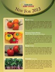 EW FOR 2013 - Sakata Wholesale Vegetable Seed
