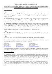 Dress Regulations - Sidney Sussex College