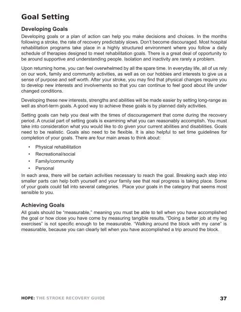 EXERCISE - National Stroke Association