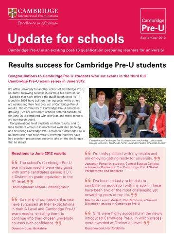 September 2012 edition - Cambridge International Examinations