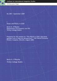 IIIS Discussion Paper No. 298 - Trinity College Dublin