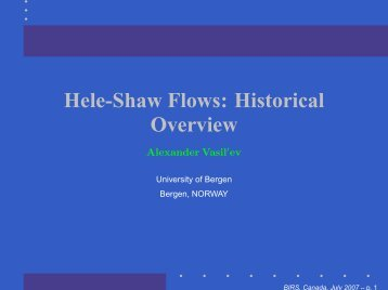 Hele-Shaw Flows: Historical Overview