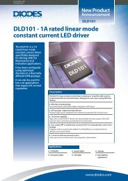 DLD101 - 1A rated linear mode constant current LED driver