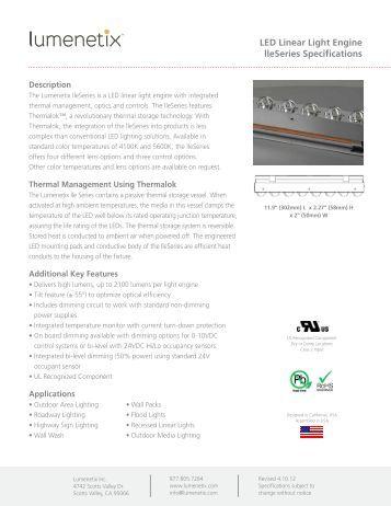 led flexible linear led linear light engine lleseries specifications lumenetix