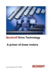 Beckhoff Drive Technology A primer of linear motors - download ...