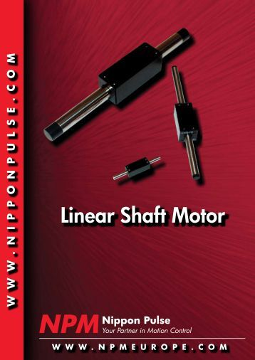 Linear shaft motor veloci for Nippon pulse linear motor