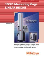 1D/2D Measuring Gage LINEAR HEIGHT - Mitutoyo America ...
