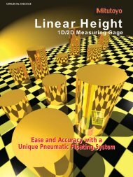 Linear Height - Mitutoyo America Corporation