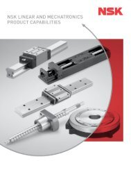 Linear and Mechatronics Product Capabilities (PDF ... - NSK Americas