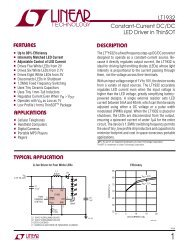 LT1932 - Constant-Current DC/DC LED Driver in ThinSOT - Linear ...