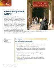MCR3U unit #3 class #9 Linear-Quadratic Systems pdf - Cordick