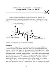 optics and laser physics laboratory #2 linear polarization of light