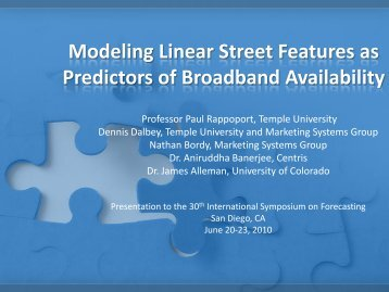 Analyzing Linear Street Features - International Institute of Forecasters
