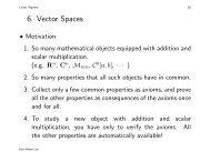 6. Vector Spaces