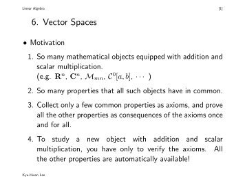 6. Vector Spaces