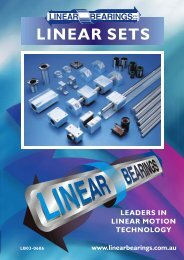 8326Linear Sets Brochure 05-06.cdr - Linear Bearings