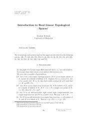 Introduction to Real Linear Topological Spaces - CiteSeerX