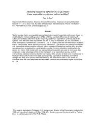 Modeling household behavior in a CGE model: linear expenditure ...