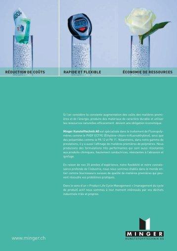 polyamide pa 11 / pa 12 - Minger - Kunststofftechnik AG