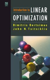 Introduction to Linear Optimization
