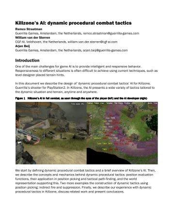 Killzone's AI: dynamic procedural combat tactics - Cgf-ai.com