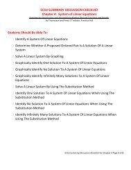 Math 098 Chapter Summary 4