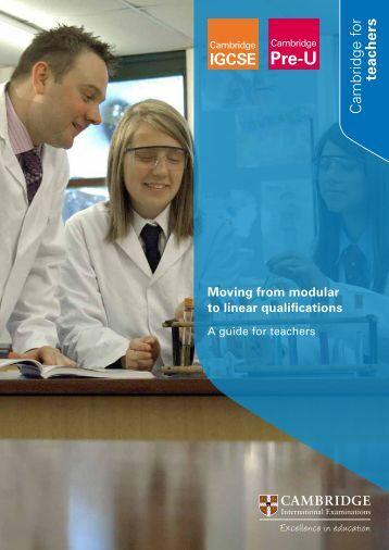 Teaching linear qualifications - Cambridge International Examinations