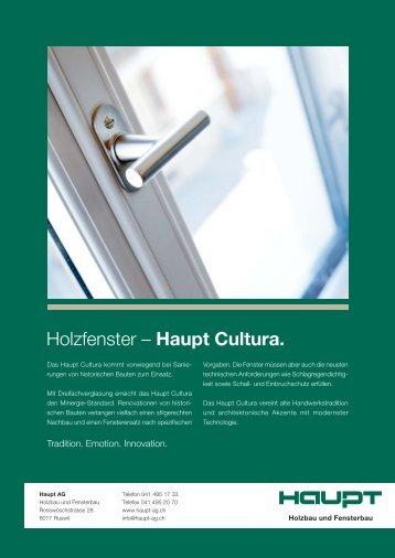 Holzfenster – Haupt Cultura. - Haupt AG