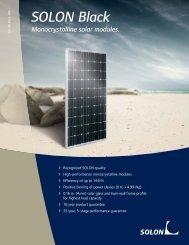 SOLON Black Monocrystalline solar modules.