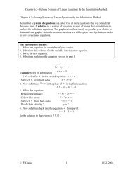 Chapter 6.2--Solving Systems of Linear Equations by - La Sierra ...