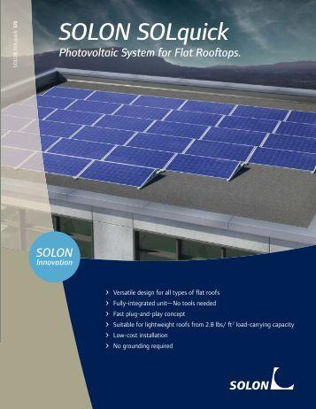 SOLON SOLquick datasheet