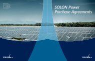SOLON Power Purchase Agreements