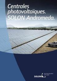 Centrales photovoltaïques. SOLON Andromeda.