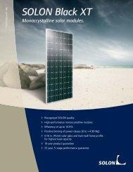 SOLON Black XT Monocrystalline solar modules.