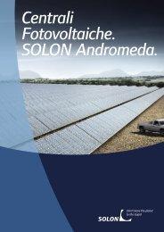 Centrali Fotovoltaiche. SOLON Andromeda.