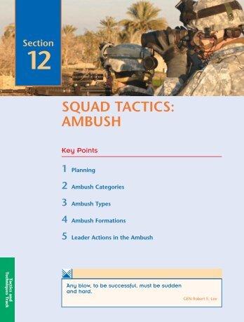 SQUAD TACTICS: AMBUSH - UNC Charlotte Army ROTC