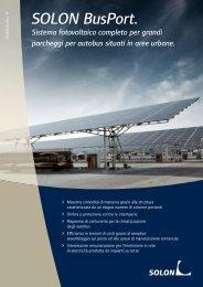 SOLON BusPort. Sistema fotovoltaico completo per grandi ...