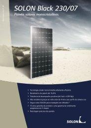 SOLON Black 230/07 Painéis solares monocristalinos.