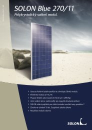 SOLON Blue 270/11 Polykrystalický solární modul.