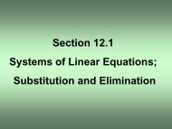 Section 12.1 Systems of Linear Equations; Substitution and ...