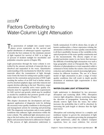 Factors Contributing to Water-Column Light Attenuation
