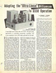 Ultra-Linear' Williamson 6550 Operation - technicalaudio.com