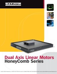 Baldor Honeycomb Dual Axis Linear Motors - Steven Engineering