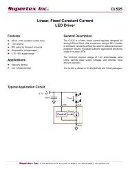 CL525 Linear, Fixed Constant Current LED Driver - Supertex