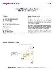 CL7 Linear, 100mA, Constant Current LED Driver with ... - Supertex